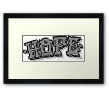 'Hope' Traditional Typography Horizontal Framed Print