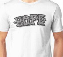'Hope' Traditional Typography Horizontal Unisex T-Shirt