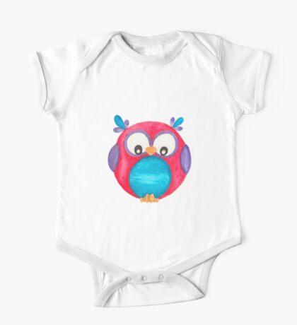 Pipsie the cute little owl One Piece - Short Sleeve