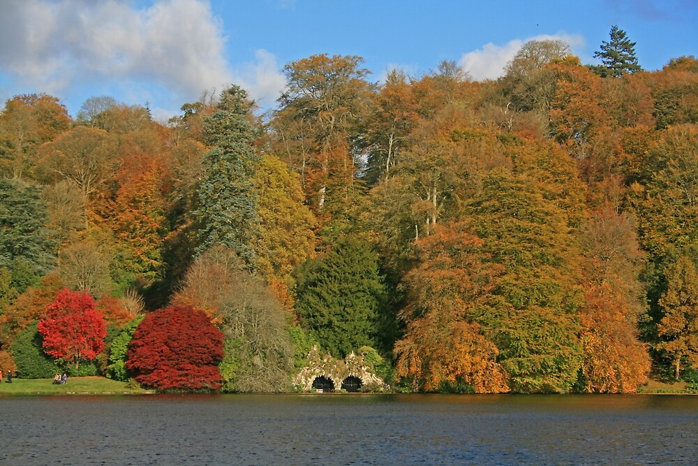 Across The Lake, Stourhead by RedHillDigital