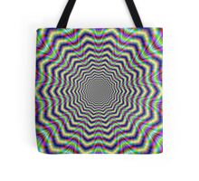 Psychedelic Web Star Tote Bag
