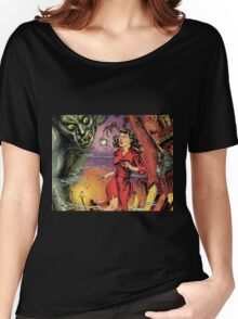 Woman and Demon vintage Comic Pop Art Women's Relaxed Fit T-Shirt