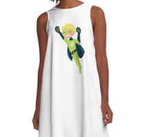 Cute little superhero boy support recycling A-Line Dress