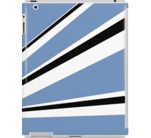 Blue Black White Stripes iPad Case/Skin