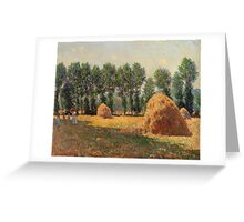 Claude Monet - Haystacks At Giverny  Greeting Card