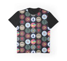Gravity Falls Cipher Wheel Graphic T-Shirt