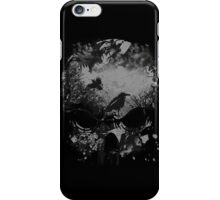 Skull with Crows - Grunge iPhone Case/Skin