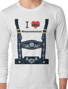 Lederhosen - Blue Long Sleeve T-Shirt