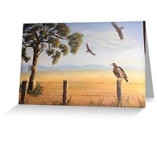 Birds of Prey, Outback Australia Greeting Card
