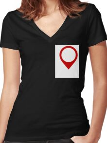 location Women's Fitted V-Neck T-Shirt