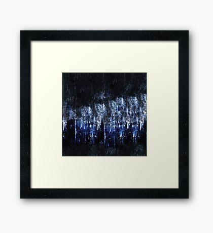 abstract blue black Framed Print