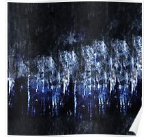 abstract blue black Poster