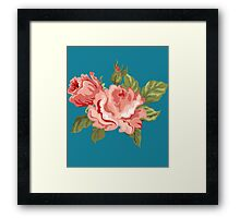 Vintage Pink Colored Roses  Framed Print