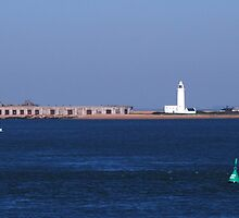 Hurst Castle and Lighthouse by Janice Heppenstall