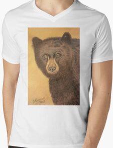 Jacks Mountain Bear Mens V-Neck T-Shirt