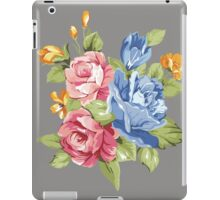 Vintage Pink and Blue Colored Roses  iPad Case/Skin