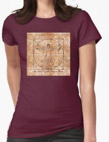 da vinci's Gallifreyan Man Womens Fitted T-Shirt