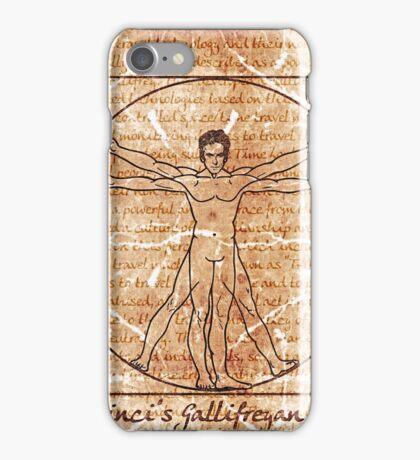 da vinci's Gallifreyan Man iPhone Case/Skin