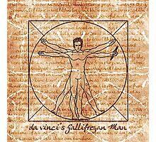 da vinci's Gallifreyan Man Photographic Print