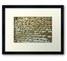 Braille Text Writing On Stone Framed Print