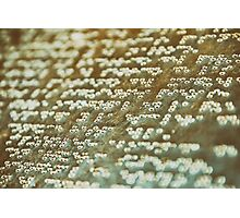 Braille Text Writing On Stone Photographic Print