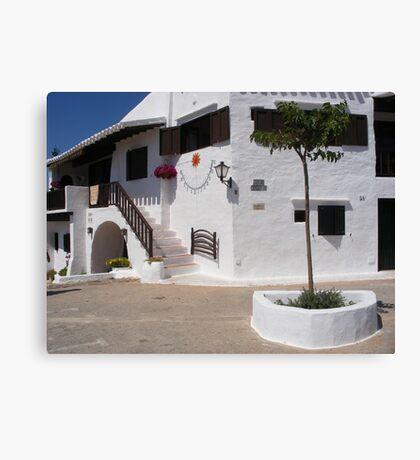 A white village in Menorca. Canvas Print
