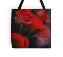 Analog photo of bunch bouquet of red roses Tote Bag