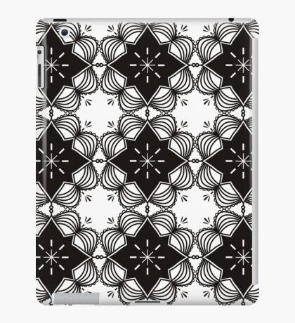 Black and White Mandala Artwork Original { Luxury Art Collection } iPad Case/Skin