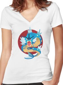 Gyarados - Basic Women's Fitted V-Neck T-Shirt