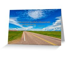 Love of Travel Greeting Card