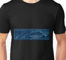 0342 Railroad Maps Route of the Pacific and Atlantic Rail Road between San Francisco San Jose as located by Wm J Lewis Chief Engineer in Sept Oct Nov Inverted Unisex T-Shirt
