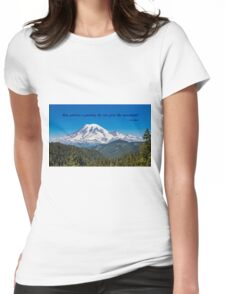 A Glorious Mountain Womens Fitted T-Shirt