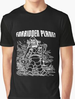 Forbidden Planet Black and White Graphic T-Shirt