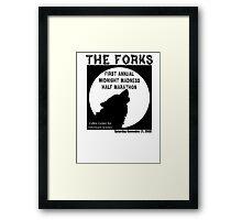 Run The Forks Framed Print