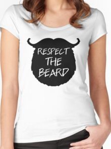 Respect The Beard Funny Quote Women's Fitted Scoop T-Shirt