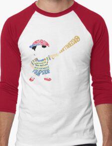 Ness Typography Men's Baseball ¾ T-Shirt
