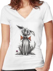 Posh paws the pooch Women's Fitted V-Neck T-Shirt