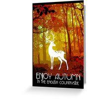 English Autumn Greeting Card