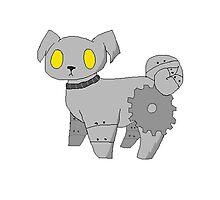 Pug Robot Photographic Print