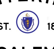 Entering Salem - Commonwealth of Massachusetts Road Sign Sticker