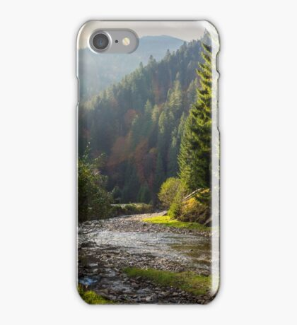 forest river in mountains iPhone Case/Skin