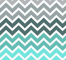 Tiffany Fade Chevron Zigzag Pattern by RexLambo