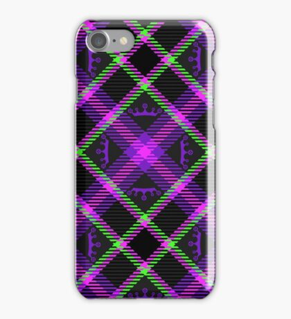 Princess Plaid - Neon iPhone Case/Skin
