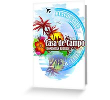 Casa de Campo Paradise Beach Greeting Card