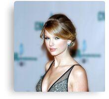 Taylor Swift - Celebrity (Oil Paint Art) (Square) Canvas Print