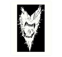 Roar (white on black) Art Print