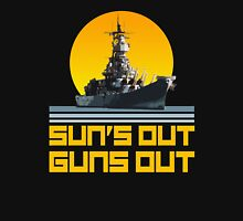 Sun's Out Guns Out - Battleship Tank Top