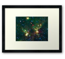 Enterprise Nebulae Without Lines Framed Print
