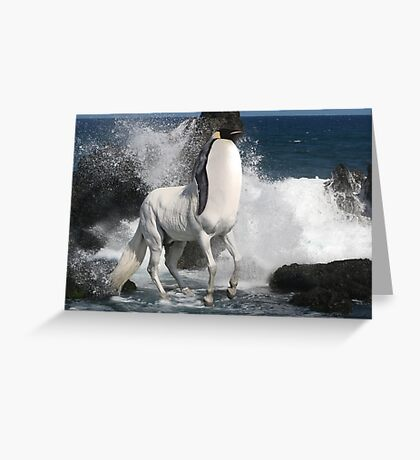 Penguin Centaur Greeting Card