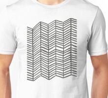 Herringbone – Black & White Unisex T-Shirt